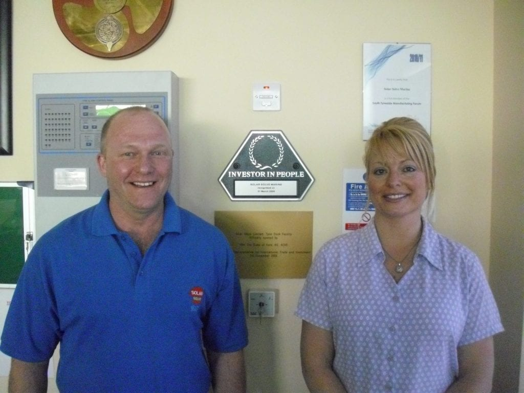 Investors In People photo with Carl Johnson Julie Lightfoot April 2011
