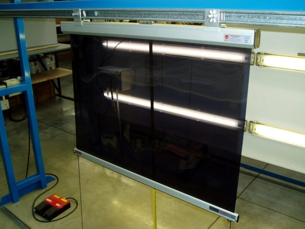 Photo of a SOLASAFE Roller Screen on Test