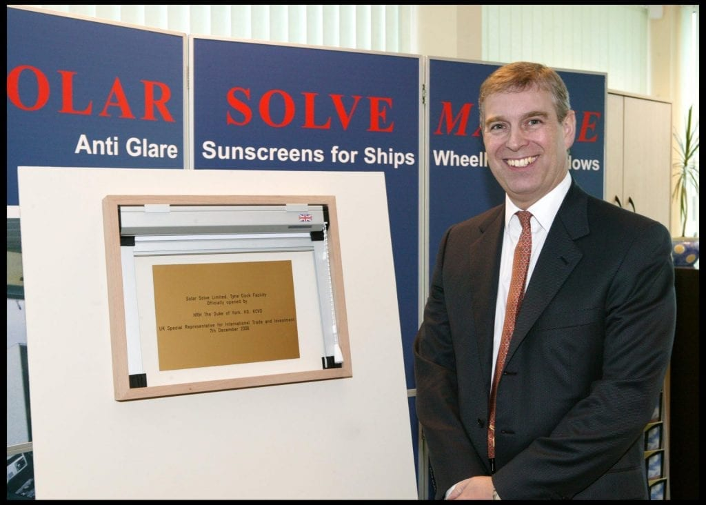 Prince Andrew Opens Tyne Dock Factory photo