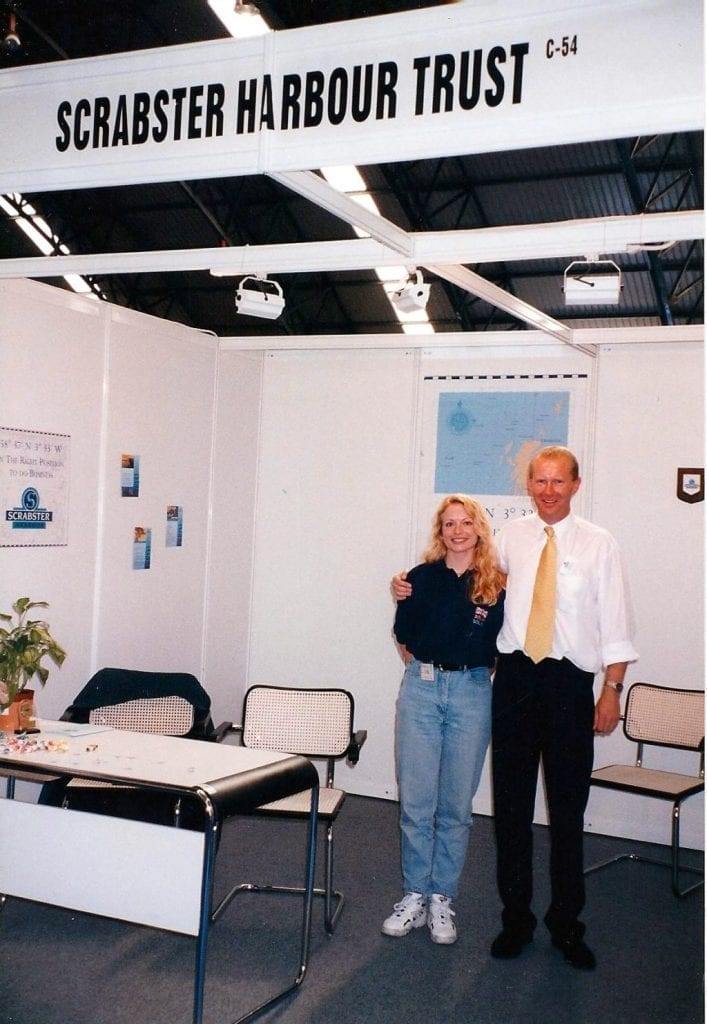 Julie Lightfoot and Gordon Mackenzie - Scrabster Harbour Trust Stand 16th September 1997