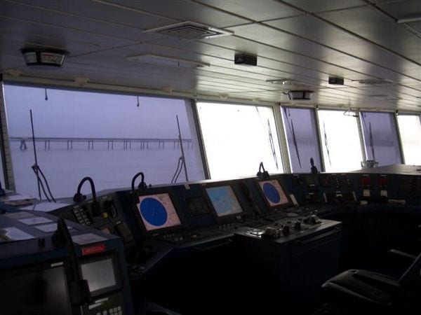 Photo of screens on FT Everard ship