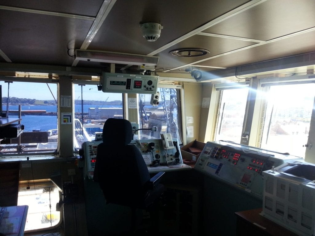 Photo of screens on RFA Argus