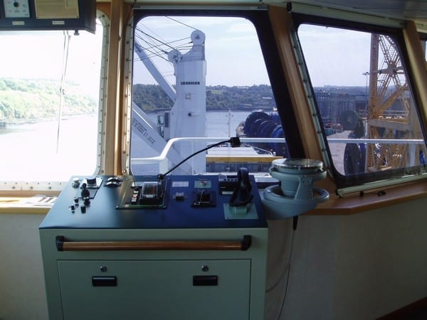 Photo of screen on the Sloman Sprinter
